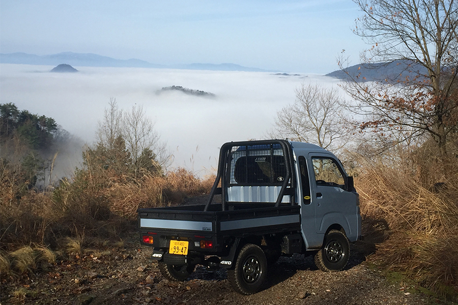 Silver Japanese minitruck