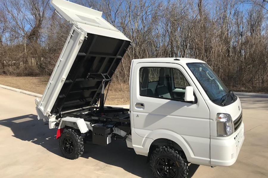 White Mini Dump Truck